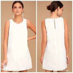 NWT Lulus Sassy Sweetheart White Shift Dress M